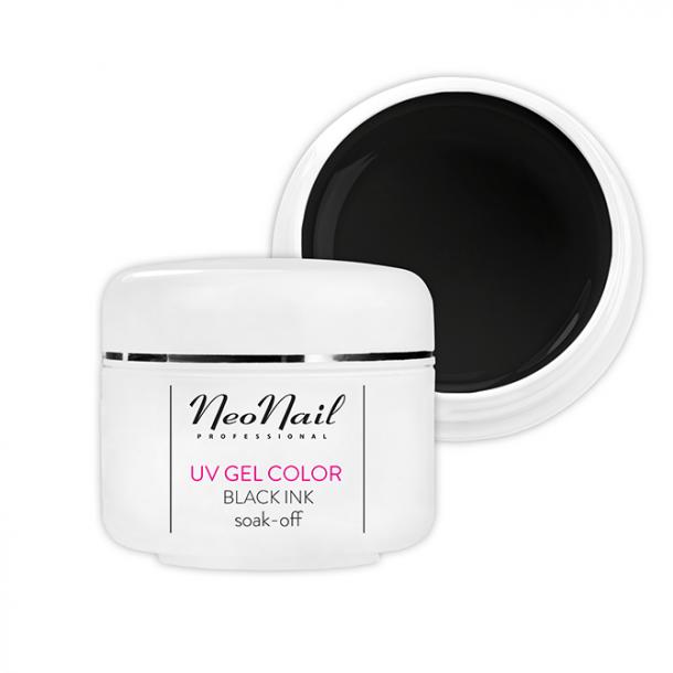 UV Gel Color - Black Ink (soak-off)